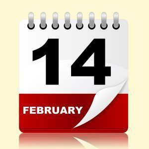 Feb 14 calendar image